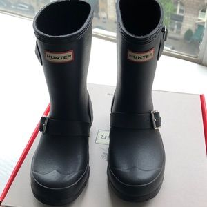 Kids Hunter Original Biker Rainboots Size 11G/12B